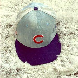 New Era 9Fifty Chicago Cubs Distressed Denim Cap